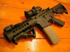 "Custom 7"" AR-15 Weapons Guns, Guns And Ammo, Katana, Rifles, Custom Guns, Custom Ar15, Airsoft, Ar Platform, Waffen"