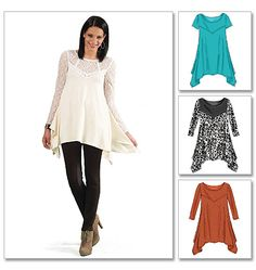 Misses'/Women's Tunics Well I have to see if I can make Plus size Clothing. Will I come out spending less or MORE! I will find out.