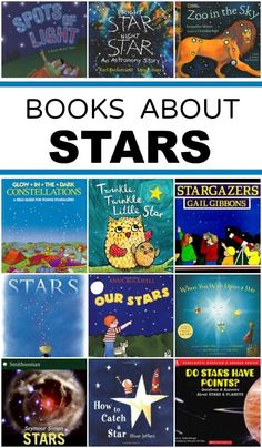 Star Books - Fantastic Fun & Learning : A list of fiction and nonfiction star books to help you explore the night sky with kids. A list of fiction and nonfiction star books to help you explore the night sky with kids. Preschool Books, Science Books, Science Space, Kindergarten Books, Book Suggestions, Book Recommendations, Space Books, Space Activities, Sequencing Activities