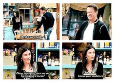 Because they showed us that it's OK to serve up sass to your partner. 24 Ways Monica And Chandler Ruined All Other Relationships For You Friends Moments, Friends Tv Show, Tv Quotes, Movie Quotes, Guy Friendship Quotes, Funny Friendship, Chandler Quotes, Monica And Chandler, Friend Memes