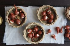 Dollhouse miniature food onions 12th scale by medievalmorsels