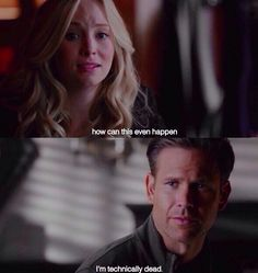 Caroline and Alaric. The Vampire Diaries Season 7 Episode 7