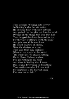 Nothing. thepoeticunderground.com #poem #poetry #writing