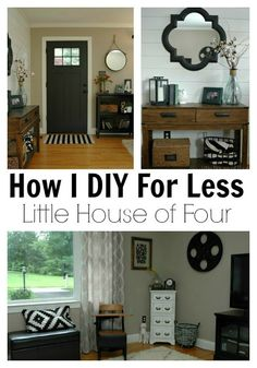 {DIY For Less} A Thrifty Entryway and Living Room - LittleHouseofFour.com
