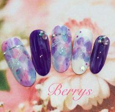 紫陽花ネイル♡