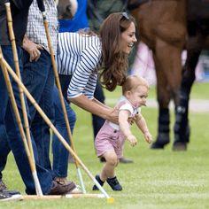 Prince George keeping Mum busy