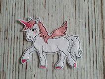 Stickdatei Doodle Pferd Einhorn Unicorn 10x10 !!