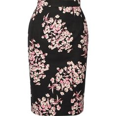 Jonathan Saunders Axel floral-print stretch-cotton pencil skirt ($545) ❤ liked on Polyvore