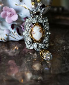 Vintage Cameo Necklace by thevintagerevivals on Etsy