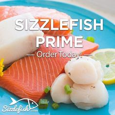 www.sizzlefish.com  **Sizzlefish Prime Package** _ We have taken your reported favorites and put them together in a variety package that we call Sizzlefish Prime. Now it is easier than ever to have your favorite seafood on-hand, available for preparing great meals in minute