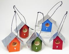 Mini Birdhouse by GECKOWOODWORKING on Etsy, $10.00