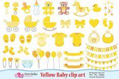 Bambino giallo Clipart. Scrapbook bambino giallo di PolpoDesign