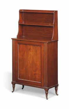 A GEORGE IV MAHOGANY SIDE CABINET -  EARLY 19TH CENTURY