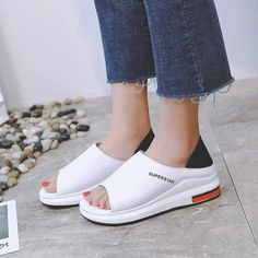 Large Size Sandals Women's Season New Women's Shoes Students Wild Flat Beach Casual Sandals is comfortable to wear. Shop on NewChic to see other cheap women sandals on sale. Cheap Sandals, Sandals For Sale, Women's Shoes Sandals, Leather Sandals, Women Sandals, Shoes Women, Ladies Sandals, Ladies Shoes, Pu Leather