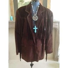 I just discovered this while shopping on Poshmark: Vintage fringed 100% genuine suede suit. Check it out! Price: $135 Size: Small-med jacket with size 8 pants