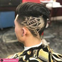 Shaved Side Hairstyles, Undercut Hairstyles, Haircut Designs For Men, Shave Designs, Hair Tattoo Designs, Undercut Hair Designs, Short Natural Haircuts, Hair Colour Design, Half Shaved Hair