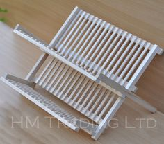 Foldable 2 Tier Wooden Dish Plate Drainer Sink Kitchen Rack Holder Cup in Home, Furniture & DIY, Cookware, Dining & Bar, Food & Kitchen Storage   eBay!
