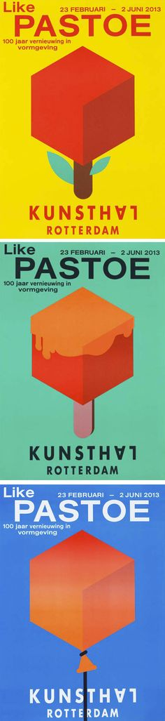 Pastoe. 100 years of design innovation. Announcements and posters for the exhibition 'Like Pastoe' at Kunsthal Rotterdam by Studio Laucke Siebein