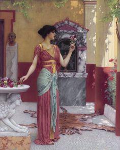 8,441 отметок «Нравится», 34 комментариев — Paintings Daily (@paintings.daily) в Instagram: «John William Godward 'The Bouquet' 1899 #arthistory #paintingsdaily #historyofart #art»