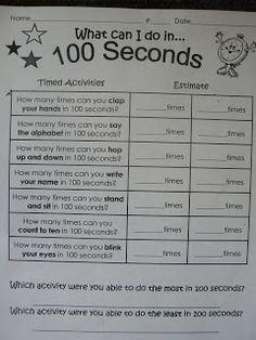 Mrs. T's First Grade Class: 100 Day