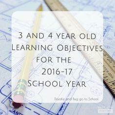 Objectives for 3-4 year Home Preschool | Deedle and Bug Go to School