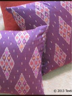 Maroon Diamond - Ikat Pillows-Home and Garden Design Ideas!