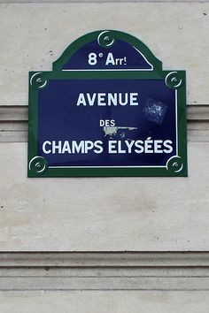 Champs Elysees sign. Create your own for a Paris themed event. Get more fun party planning ideas at sparklerparties.com