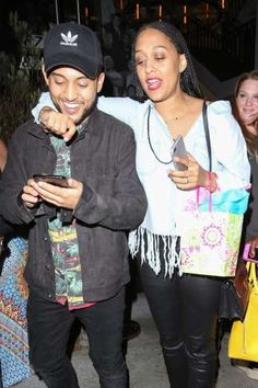 Celebrity PDA of 2017 - December 11, 2017:  Tia Mowry put a loving arm around baby brother Tahj Mowry as they celebrated her 39th birthday in West Hollywood on July 6.