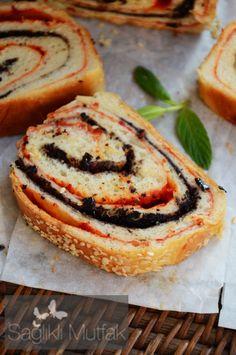 Zeytinli, Biberli Sarma Ekmek – Sağlıklı Mutfak