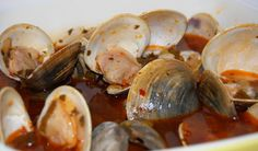 Clams in a wine sauce @azoreangreenbean.com