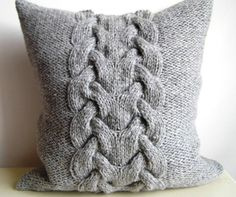 PDF KNITTING PATTERN Cable knit pillow cover No.3 от ELITAI
