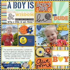Trendy Baby Crafts For Boys Life Ideas Scrapbook Quotes, Kids Scrapbook, Scrapbook Templates, Scrapbook Sketches, Scrapbook Page Layouts, Scrapbook Supplies, Scrapbook Pages, Pocket Page Scrapbooking, Digital Scrapbooking