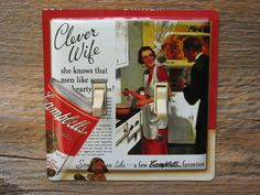 Campbells Soup Tin Double Switch Plate For The Clever Wife SP-0295 #campbellssoup