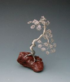Windswept Recycled Copper Wire Tree Art by WireTreeSculpture