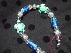 Bubbles and Sea turtles glass beaded 8in by IroquoisDreams on Etsy, $10.00