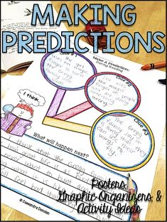 These making predictions and inferences graphic organizers are a must have for reading comprehension strategy instruction! They are perfect to use with any texts to provide students plenty of opportunity to practice using their prior knowledge with a text Reading Strategies Posters, Reading Comprehension Strategies, Reading Groups, Reading Skills, Predicting Activities, Reading Activities, Teaching Reading, Teaching Resources, Third Grade Reading