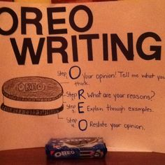 Teaching opinion writing OREO style tomorrow to my first graders!