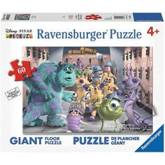 Ravensburger Monsters Inc.: The Whole Gang Floor Puzzle, 60 Pieces, Multicolor