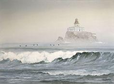 Jeffrey Hull Watercolor...Tillamook Rock