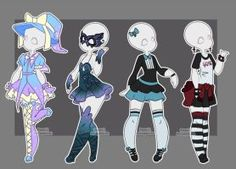 Gacha outfits 26 by kawaii-antagonist