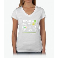 Drink Until You're a Gallagher Shameless - St Patrick's Day Shirt Womens V-Neck T-Shirt