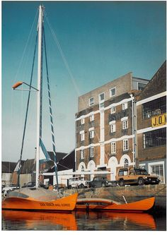 Eka Grata, designed by Daniel Charles (Tahiti Douche, Epicure) was a cruiser/racer Atlantic proa built by Dr. Niklaus Shiess in 1983.