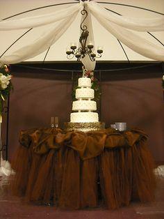 love this arrangement around the cake