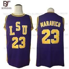 df8cb1edb New Pete Maravich 23 Pistol LSU College Throwback Basketball Jersey Lsu  College