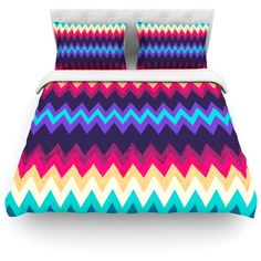 Surf Chevron by Nika Martinez Light Duvet Cover Size: Twin, Fabric:... ($154) ❤ liked on Polyvore featuring home, bed & bath, bedding, duvet covers, fabric bedding, chevron duvet, twin bedding, twin bed linens and twin duvet