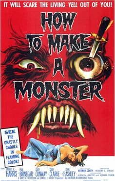 How to Make a Monster (1958) Unrated   1h 13min   Horror, Sci-Fi   1 July 1958 (USA) When a master monster make-up artist is sacked by the new bosses of American International studios, he uses his creations to exact revenge. Director: Herbert L. Strock Writers: Aben Kandel (original story) (as Kenneth Langtry), Herman Cohen (original story)   2 more credits » Stars: Robert H. Harris, Paul Brinegar, Gary Conway