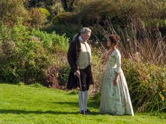 """{ USA TODAY } Lord Mansfield (Tom Wilkinson) raises Dido in a loving way, but still allows some discrimination even within his own home. In London, he does not allow Dido to eat with the family when guests are present. She is allowed to join them after the meal. When Dido hears this, """"she is very upset,"""" says Asante. """"He's a man who will respond differently at the end of the film."""""""
