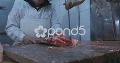 Butcher Slicing Beef In Slicer, Argentina - Stock Footage Stock Video, Stock Footage, Carne, Beef, Argentina, Meat, Steak