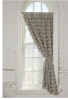 I must have curtains like this for my art/design room to cover the art supply closet instead of doors