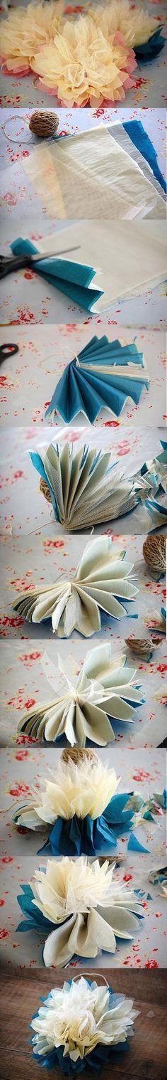 DIY Tutorial: Flower Crafts / DIY Fabric flower - Bead&Cord